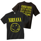 NIRVANA T-Shirt Smiley Face Logo OFFICIALLY LICENSED New Authentic S-XL