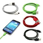1M 3ft Braided Micro USB Data Sync Charger Cable Lead fr Samsung Galaxy S3 S4 LG