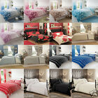 Duvet Quilt Cover Bed Set With Pillow Cases Single Double King Superking Curtain