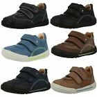 Boys Start-rite Leather Shoes With Double Velcro - Flexy-soft Air