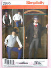 Simplicity 2895 SEWING PATTERN Wild West Gents Coat Waistcoat Shirt - Steampunk