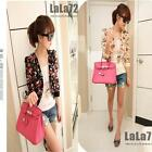 CHIC Summer Women Trendy Long Sleeve Floral Print Shrug Short Jacket Chiffon Top