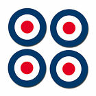 "4 x 100mm  4"" Glossy Vinyl Stickers - RAF Roundel The Who Mod Target Vespa #0216"