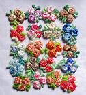 Venice embroidered flower 1/2 -  3/4 inch wide sew on appliques-6pc-select color