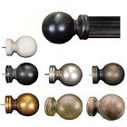 """Menagerie 2"""" Drapery Hardware Pair Of Classic Ball Finials 8 Finishes"""