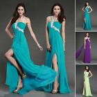 Elegant Long One Shoulder Evening Party Formal Cocktail Prom Dress Wedding Gown