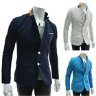 Men Fashion Sexy Slim Fit Suit Two Button Business Casual Blazer Coat Jacket X36