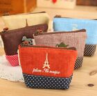 FD1013 Fashion Retro Women Girl Linen Cotton Coin Zipper Wallet Card Bag ~1pc~