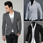 New Stylish C1MY Men's Casual Slim Fit One Button Suit Blazer Coat Jackets Tops