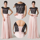 sexy Lace+Chiffon Long Formal Prom Dress Party Bridesmaid Evening Gown Wedding
