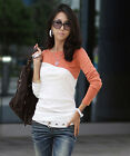 2014 Women Lady Fashion Long Sleeve Crew Neck T-Shirt Tops Blouse Tee S M L UKFO