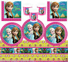 Disney FROZEN Birthday VALUE COMPLETE PARTY KIT Plates Cups Napkins Tablecover