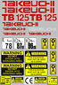 More images of Decal Sticker set for: Takeuchi TB125  Mini Digger Pelle Bagger Excavator
