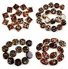 J59932 leopard print gemstone shell,loose beads,More size to select