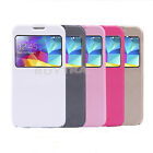 PU Leather Wallet Flip S-VIEW Case Stand Cover For Samsung Galaxy S5 MGAB