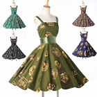 1950's ROCKABILLY  Audrey Hepburn Style Swing Jive TEA Party Vintage Dress Pinup