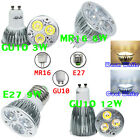 E27/GU10/MR16 3W/6W/9W/12W Warm/Day White Light CREE Dimmable LED SMD Lamp Bulbs