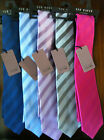 BNWT Mens Ted Baker Knotted Luxury Pure Silk Ties Same Colour Wide Stripe RRP£40