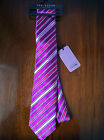 BNWT Mens Ted Baker Knotted Luxury Silk Ties Stunning Pink Stripe Design RRP£40