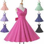 ❤Newest Style❤ Vintage 40s 50s Party Rockabilly Swing Prom Housewife Dress XS~XL