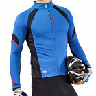 Tracked 48 Santic Breathable Outdoor Cycling Bike Long Sleeve Jersey Coat Blue