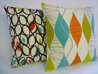 """Orange Cushion Cover Big 22"""" contemporay designs and choices  Hand Crafted"""