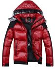 Hot Men's jackets hooded Glossy badges padded jacket thick down cotton coat