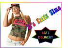 Army Camouflage Vest Fancy Dress Hen Party Small and Medium Military