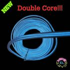 DOUBLE CORE  EL Wire - £6 p/m- 3m of Super Bright 3.2mm Diameter Twin Dual Cores