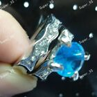 Wholesale 5-15PAIR color Cubic Zircon Rhinestones silver Plated ring 2 in1 Rings