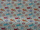 100% COTTON CAMPERVAN FABRIC PRINT PICK YOUR OWN SIZE SEWING