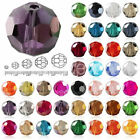 100x Faceted Glass Crystal Round Loose Beads 6x6mm Wholesale Lots Hole Size 1mm