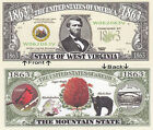 1863 U.S.A. State of West Virginia WV Novelty Notes Bills 1 5 25 50 100 500 1000