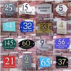 Modern House Sign Door Number Street Address Plaque Glass Effect Acrylic