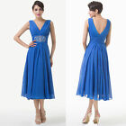 Vintage Chiffon 50s 60s Evening Party Wedding Rockabilly Ballgown Cocktail Dress