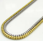 "22"" 1.5mm 4 Grams 10k Yellow White Gold Diamond Cut Box Chain Ladies Mens"