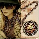 wholesale 6-54pcs nice Retro Leopard Faceted resin stone Necklaces free shipping