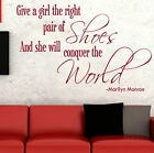 Marilyn Monroe - Removable Wall Quote Interior Wall Quote Sticker DAQ19