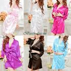 Sexy Women Lace Silky One Piece Costume Lingerie Nightgown Night Skirt Bathrobe