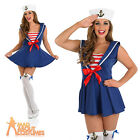 Adult Sexy Sailor Girl Costume Sassy Ladies Womens Navy Fancy Dress New UK 8-22