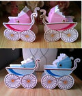 10/50 Pcs Candy Box Party Wedding Baby Shower Candy Gift Box Stroller Shape Box