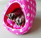 "SUPER VALUE! 7""x9.5"" Sugar Glider-Rat-Rabbit-Chinchilla-Guinea ""DOME"" Pouch Bed"