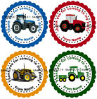 Personalised Tractor Stickers for Party Bags/Sweet Cones etc - Ref 01-00