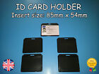 New Horizontal ID Card holder suitable for lanyards, neck straps BLACK badge