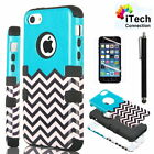 For iPhone 4 4S 4G Black Rugged Rubber Matte Hard Case Cover w/ Screen Protector
