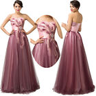 2015 Vintage Long Ball Gown Bridesmaid Formal Evening Prom Party Cocktail Dress