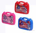 Hot Red Pink Blue Kids Boy Girl Pretend Play Doctor Nurse Toy Kits Box