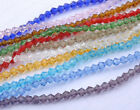 200Pcs 4MM glass crystal diy finding bicone faceted loose beads - 12colors