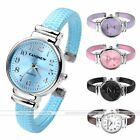 1pc Snake Style Slim Band Quartz Analog Leather Wrist Band Cuff Watch Bracelet
