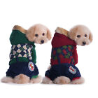 Small Dog Winter Thicken Coat Clothes Pet British Style Jumpsuit Hoodie Apparel